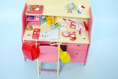 desk for dolls (oever//**) Tags: hello school castle doll furniture families kitty rement stationery licca sylvanian dorandoran candyaram