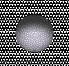 tesselate triangles-sphere (jgury) Tags: art illusion tesselation opart
