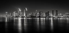 Alive (quicklyslowly) Tags: longexposure blackandwhite bw night sandiego coronado fineartphotography sandiegoskyline sonya7