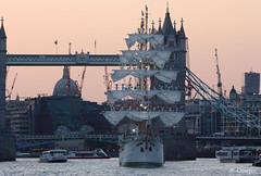 ARC Gloria visits the Pool of London, Sunday, Sept. 6, 2015. (olliepix) Tags: bridge 6 tower thames river ship sunday arc gloria tall sept flagship 2015