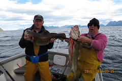 "Bumper and Barry Moore with Cod • <a style=""font-size:0.8em;"" href=""http://www.flickr.com/photos/113772263@N05/21397431122/"" target=""_blank"">View on Flickr</a>"