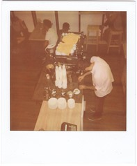 Budapest Baristas (lengvari) Tags: portrait color film coffee café polaroid budapest expired speciality baristas implulse