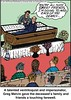 Funny Funeral Jokes (aconk_okinawa) Tags: grave death die joke cartoon casket graves funeral jokes corpse coffin cartoons practicaljoke coffins died caskets funerals practicaljokes badjoke deaths corpses mourner closetohome badjokes mourners inappropriatebehaviour inappropriatebehavior opencasket opencaskets