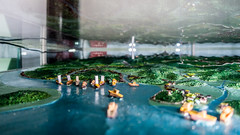 model of the korean coast in a show case