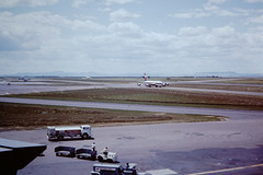 Great Falls International Airport, 1978 (Sentinel28a1) Tags: greatfalls western boeing 707 727 f106 deltadart westernairlines montanaang greatfallsinternationalairport montanaaustria