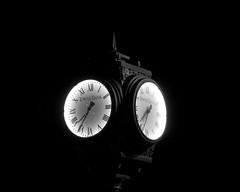 "Towne Bank (DASEye) Tags: ""clockface"" bank ""townebank"" davidadamson daseye nikon 52in2015 52in2015challenge week41 night nightphotography challenge clock bw"