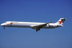 FlyNordic MD-83 SE-RDS BCN 03/09/2005 (jordi757) Tags: barcelona nikon airplanes bcn kodachrome douglas f90x kodachrome64 avions mcdonnell elprat md83 flynordic lebl serds