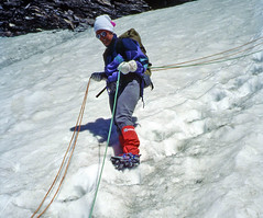 Discesa dal Col de Gietro (giorgiorodano46) Tags: suisse alpinismo leila svizzera valais ghiacciaio alpinista cordata valdebagnes vallese luglio1993 glacierdegietro coldegietro incordata glacierdelirerose
