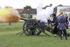 Civil War Cannon (BKB Images) Tags: battle cannon cavalier pike reenactment roundhead musket sealedknot englishcivilwar valencehouse
