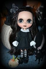 Lucretia is ready for Halloween