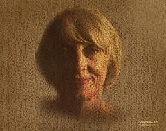 PORTRAIT IN LETTERS (Pat Newton Photography) Tags: portrait art photoshop graphicdesign graphics canon6d