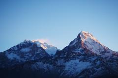 Annapurna peaks (elenaleong) Tags: sunrise poonhill snowmountain  himalayanrange 7219m 8091m annapurna1 annapurnaconservationarea 3210m  annapurna nepaljomsomtrekking hilmalays