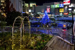Christmas Light-up at Sannomiya, Kobe