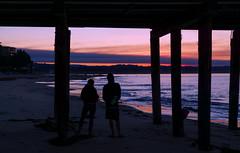 Waiting for sunrise (JohnNguyen0297) Tags: sunrise santacruz couple romantic mood ocean beach ca a6000 ilce6000 silhouettes lover pier