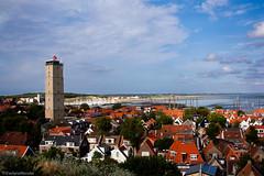 West-Terschelling (EvelyneRenske) Tags: landschap terschelling westterschelling brandaris landscape dutch holland nederland netherlands houses coast sea clouds lighthouse waddeneiland waddeneilanden