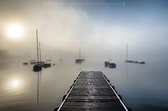 Misty morning v2 (Mirek Pruchnicki) Tags: pentax radymno samyang14mm zek autumn boat bridge fog lake landscape misty morning morninglight softlight wojewã³dztwopodkarpackie polska