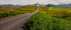 Ingjaldshlskirkja explored (einisson) Tags: church ingjaldshlskirkja road grass iceland snfellsnes outdoor mountain einisson canon70d