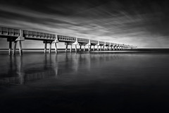 Low Tide (shutterclick3x) Tags: pier ocean seascape blackandwhite bw longexposure frankloose waterscape
