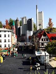 Frankfurt Skyline-Lego (Notquiteahuman1) Tags: lego legoresort gnzburg legoland construction blocks colour digital frankfurt city skyscrappers architecture fuji streetphotograpy street