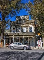 GROCERY-HOTEL (akahawkeyefan) Tags: car hotel grocery store davemeyer doyle ca signs neon