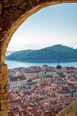 Dubrovnik onto Lokrum (Foreign17) Tags: bright seaside scenery nikon d7100 dx nikkor 1685 1685mm f8 f80 mineta tower old town church warm sky sea mediterranean adriatic dubrovnik dalmatia croatia framed composition arch arc architecture