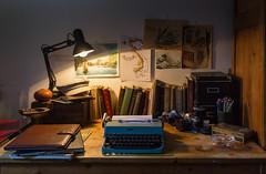 The Writer's Desk (giacomo.langella) Tags: writer desk studio journalism journalist vintage type machine books film camera filmcamera olivetti reporter typemachine