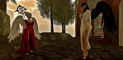 Sticks and stones there are no bones (Ashildr the Avariel) Tags: sl secondlife second life virtualworld virtual rp roleplay avatar avatars female avariel elf tiefling demon ears halo horns wings divinestaff elmandria logo mesh gown holy cleric archcleric priestess rogue light shadow