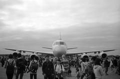 BIRD (Dinasty_Oomae) Tags: lomo  smena8m 8m jmsdf    shimofusaairbase  airplane  aircraft  blackandwhite bw monochrome outdoor kawasaki  p1 p1 kawasakip1