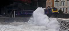 Running the sea wall (r4foto) Tags: dawlish dawlishdevon train dawlishseawall