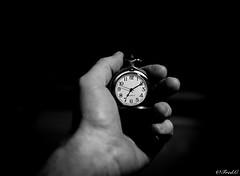 Time ... (Fréd.C) Tags: time tempus heure montre horaire noir black white hand main