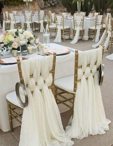 housse de chaise de mariage