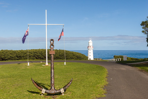 Eric the Red Anchor and lighthouse, Cape Otway Lightstation