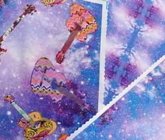 SKY GUITAR PURPLE on satin (paysmage) Tags: paysmage spoonflower fabric fashion guitar guitars music sound galaxy nebula pattern sewing seamless stiching satin sounds musique musicinstrument purple lilac lavender pod polyester colorful cotton collection coordinates clothing upholstery swatches design designers designer