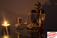 IMG_6935 Cheryl (Joanne 1967 (SIMPLY PHOTOGRAPHY)) Tags: joanneshaw skeleton candle simplyphgotography wine cheryl
