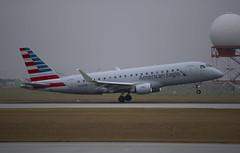 American Eagle Embraer ERJ-175LR (gdd814) Tags: americaneagle embraer e175 erj175 erj175lr envoyair regionaljet calgary airport oneworld cyyc yyc nikond3300 55200mm spotting aviation airliner iso100 landing americanairlines winglets n224nn