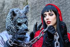 Lucca Comics 2016 (MaOrI1563) Tags: luccacomics cosplay 2016 lucca cappuccettorosso lupo toscana tuscany italia italy maori1563