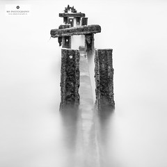 A Minute in Malahide (Mick Hunt Photography) Tags: groynes malahide dublin fineart longexposure blackandwhite bw winter lee filters bigstopper 10 stop canon 5dmkiii 2470 2016 ireland november mickhuntphotography wwwmhphotographyie seascape 312a4280 monochrome white background square format explore explored