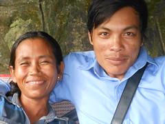Portrait, Happy people of Cambodia (rodeochiangmai) Tags: portrait cambodia kepcambodia smiles blue faces