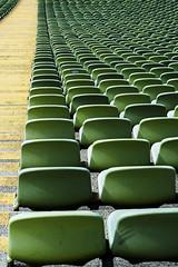 reihenweise / in a row (aufziehvogel2006) Tags: olympiastadion münchen olympicstadium munich seats sitze architektur architecture tribüne geometric lines aufziehvogel2006 nikondf olympiapark fcbayernmünchen football ground hopping stadium stadion structures strukturen linien gelb grün yellow green reihenweise inarow