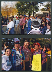 SOA Vigil at US Army Ft. Benning in Georgia, 11-21-1999 (Regional History Center & NIU Archives) Tags: boycott demonstration protest march marchers peace activism