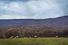 Laws Of Beauty (jade2k) Tags: autumn hay bales mountain pa clouds