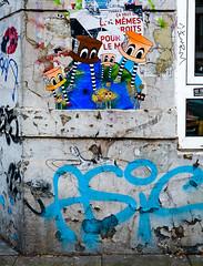 HH-Wheatpaste 3122 (cmdpirx) Tags: hamburg germany reclaim your city urban street art streetart artist kuenstler graffiti aerosol spray can paint piece painting drawing colour color farbe spraydose dose marker stift kreide chalk stencil schablone wall wand nikon d7100 paper pappe paste up pastup pastie wheatepaste wheatpaste pasted glue kleister kleber cement cutout