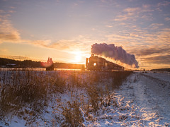Cloud factory (Teemu Kustila Photography) Tags: locomotive train steam cloud sunrise ukkopekka railway winter sunset morning landscape outdoors scenery