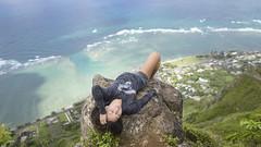 Kat on Manamana (Marvin Chandra) Tags: d600 24mm katsweets sukiyuki 2016 manamana marvinchandra hiking hiker hawaii oahu windward kahana kaaawa