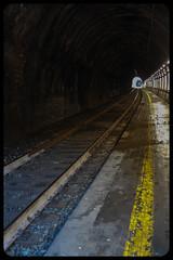 Through the tunnel (franz75) Tags: nikon coolpix s6600 italia italy liguria vernazza cinque terre cinqueterre treno train ferrovia tunnel railroad luce light
