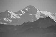 Mont Blanc ( 4807m). (clicheforu) Tags: clicheforu montblanc montebianco alpes alps mountain landscape nature view bw blackwhite beautiful high altitude glacier