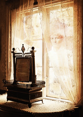 Generations (BirgittaSjostedt) Tags: antique old furniture windows curtains tables cabinets chests mirrors canvas windowwednesday birgittasjostedt photo generation relatives firstmother magicunicornverybest ie