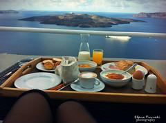 THIS IS GREEK BREAKFAST (braziliana13) Tags: breakfast greece santorini breathtaking view morning volcano thira caldera blue bluesky greeksky greeksea cyclades