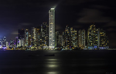 Panama Nights (Bernai Velarde-Light Seeker) Tags: panama city central centro america buildings edificios apartments apartamentos night noche bernai velarde sea ocean oceano mar pacific pacifico