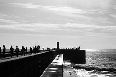 Conversar com o mar / Talk with sea (Francisco (PortoPortugal)) Tags: 2332016 20161026fpbo4355 pb bw pessoas people pescadores fishermen mar sea fozdodouro porto portugal portografiaassociaofotogrficadoporto franciscooliveira